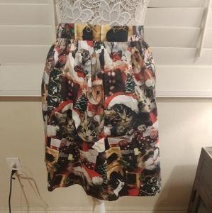 ModCloth Cat Print Skirt